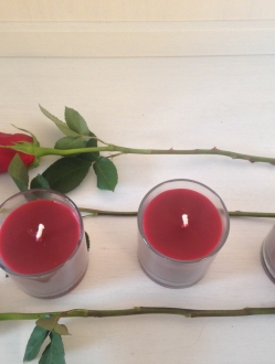 3 Pillar Jars – Red