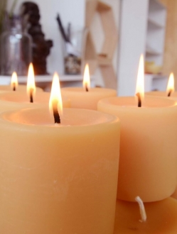 Beeswax 3″ x 3″ Pillar Candle – 1 unit (P3)